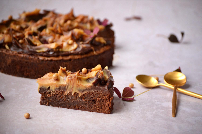 Brownie-med-karamelchokolade