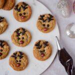 Julecookies med appelsin og hvid chokolade