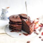 pandekager med chokolade