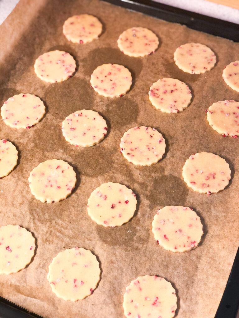 flødeboller med hindbær